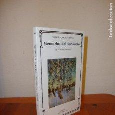 Libros de segunda mano: MEMORIAS DEL SUBSUELO - FIODOR M. DOSTOIEVSKI - CATEDRA, MUY BUEN ESTADO. Lote 95832119