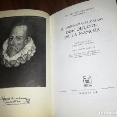 Libros de segunda mano: LIBRO DON QUIJOTE DE LA MANCHA CERVANTES AGUILAR AÑO 1968. Lote 95846731