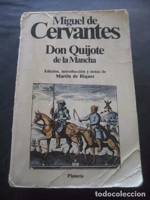 LIBRO DON QUIJOTE DE LA MANCHA. ED. PLANETA 1988. (Libros de Segunda Mano (posteriores a 1936) - Literatura - Narrativa - Clásicos)