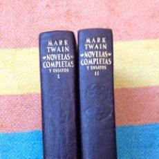 Libros de segunda mano: MARK TWAIN NOVELAS COMPLETAS Y ENSAYOS AGUILAR MADRID. Lote 96045855