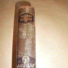 Libros de segunda mano: EDITORIAL AGUILAR - UNAMUNO ENSAYOS TOMO II - AÑO 1945. Lote 96430679