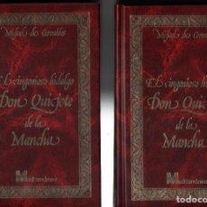 Libros de segunda mano: EL INGENIOSO HIDALGO DON QUIJOTE DE LA MANCHA - MIGUEL DE CERVANTES - ILUSTRACIONES DORE - 2 TOMOS *. Lote 97202639
