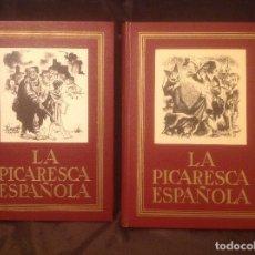 Libros de segunda mano: LA PICARESCA ESPAÑOLA EN 2 TOMOS COLECCIÓN ANCHO CAMINO LITOGRAFÍAS DE LORENZO GOÑI EXCELENTE ESTADO. Lote 98039679