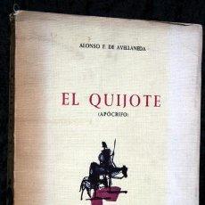 Libros de segunda mano: EL QUIJOTE (APOCRIFO) - AVELLANEDA - DIBUJOS DE COBOS - LIMITADA Y NUMERADA. Lote 98485427