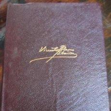 Libros de segunda mano: VICENTE BLASCO IBAÑEZ. OBRAS COMPLETAS. TOMO II. AGUILAR, 1970. PIEL. CINTA MARCAPAGINAS. 1778 PAGIN. Lote 99381971