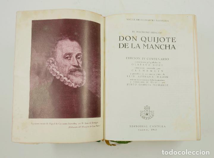 Libros de segunda mano: DON QUIJOTE DE LA MANCHA, CERVANTES, 1947, ED. CASTILLA. 14x18,8cm - Foto 3 - 99509551