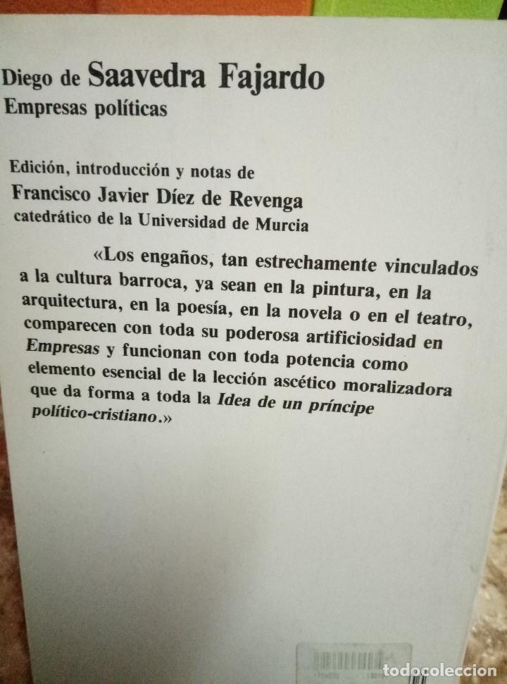 Libros de segunda mano: EMPRESAS POLITICAS - DIEGO DE SAAVEDRA FAJARDO - PLANETA, 1988 - Foto 2 - 99573607