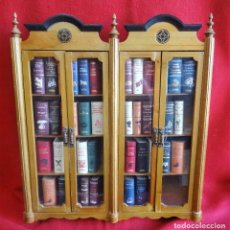 Libros de segunda mano: JOYAS LITERARIAS EN MINIATURA 42 EJEMPLARES EN SU VITRINA DE DISEÑO. Lote 99880655