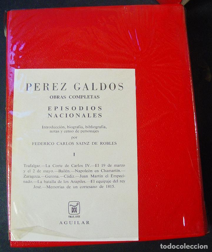 Libros de segunda mano: EPISODIOS NACIONALES. BENITO PÉREZ GALDÓS. AGUILAR, 4 TOMOS COMPLETO. 1971 y 1973. PRECINTADOS - Foto 2 - 99922923