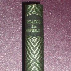 Libros de segunda mano: LA REPÚBLICA POR PLATÓN DE EDITORIAL AGUILAR EN MADRID 1968 TERCERA EDICIÓN BIEN CONSERVADO . Lote 100515735