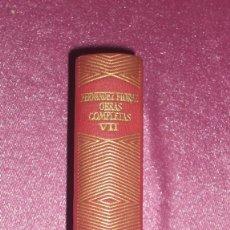 Libros de segunda mano: WENCESLAO FERNANDEZ FLOREZ OBRAS COMPLETAS TOMO VII 1963 AGUILAR. Lote 100690403