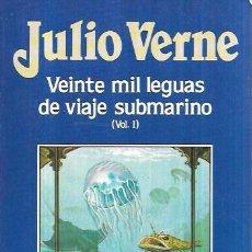 Libros de segunda mano: VEINTE MIL LEGUAS DE VIAJE SUBMARINO (VOL.1) JULIO VERNE. EDICIONES ORBIS,S.A.1986.. Lote 100853459