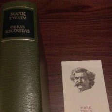 Libros de segunda mano: OBRAS ESCOGIDAS MARK TWAIN. AGUILAR. . Lote 101578759