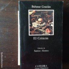 Libros de segunda mano: EL CRITICÓN. BALTASAR GRACIÁN. Lote 101723668