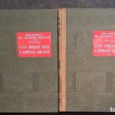 Libros de segunda mano: LOS HIJOS DEL CAPITAN GRANT 2 TOMOS. ( VIAJE ALREDEDOR DEL MUNDO). SOPENA 1941. JULIO VERNE.. Lote 102320231