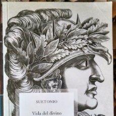 Libros de segunda mano: SUETONIO . VIDA DEL DIVINO AUGUSTO . GREDOS. Lote 102784895
