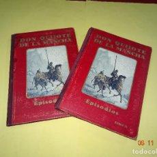 Libros de segunda mano: ANTIGUO DON QUIJOTE DE LA MANCHA COMPLETO TOMO I-II EN EPISODIOS CON LÁMINAS DE GUSTAVO DORÉ. Lote 102985979