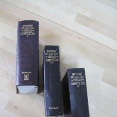 Libros de segunda mano: HONORÉ DE BALZAC, OBRAS COMPLETAS - AGUILAR - TOMOS I, II Y III. Lote 114084614