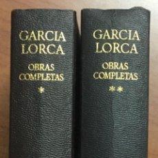 Libros de segunda mano: FEDERICO GARCIA LORCA. OBRAS COMPLETAS. AGUILAR 1973, 1974.. Lote 103484195