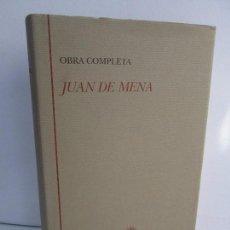 Libros de segunda mano: JUAN DE MENA. OBRA COMPLETA. BIBLIOTECA CASTRO. TURNER 1994. VER FOTOGRAFIAS ADJUNTAS. Lote 103721143