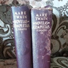 Libros de segunda mano: NOVELAS COMPLETAS Y ENSAYOS (2 VOL.), DE MARK TWAIN. AGUILAR, 1962-4. CON DEFECTO.. Lote 103775623