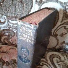 Libros de segunda mano: OSCAR WILDE. OBRAS COMPLETAS. AGUILAR, 1949 (3A ED.). CORTES DECORADOS. 1.358 PÁGINAS.. Lote 103777107