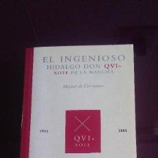 Libros de segunda mano: EL INGENIOSO HIDALGO DON QVIXOTE DE LA MANCHA. Lote 103919315