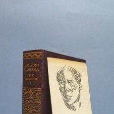 Livres d'occasion: 1967.- OBRAS COMPLETAS. ALEJANDRO CASONA. AGUILAR. TOMO I. CON MARCAPAGINAS. Lote 104120399