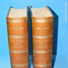 Libros de segunda mano: EL INGENIOSO HIDALGO DON QUIJOTE DE LA MANCHA - 2 TOMOS - ILUSTRADO POR CARBONERO Y BARRAU. Lote 104180887