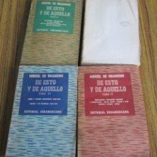 Libros de segunda mano: 4 LIBROS - DE ESTO Y DE AQUELLO - POR MIGUEL DE UNAMUNO - EDIT. SUDAMERICANA 1950-1-3-4 . Lote 104289931