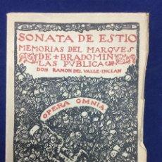 Libros de segunda mano: VALLE-INCLÁN. SONATA DE ESTÍO. SONATA DE OTOÑO. SONATA DE INVIERNO. 1942. Lote 104380403