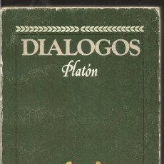 Livres d'occasion: PLATON. DIALOGOS. BRUGUERA. Lote 104655559