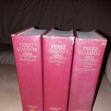 Libros de segunda mano: BENITO PÉREZ GALDÓS - OBRAS COMPLETAS - NOVELAS + MISCELANEA - AGUILAR. Lote 104833610