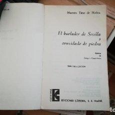 Libros de segunda mano: EL BURLADOR DE SEVILLA Y CONVIDADO DE PIEDRA. Lote 105427615