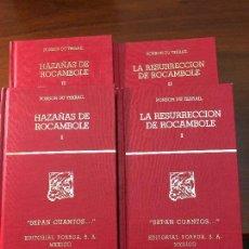 Libros de segunda mano: LAS HAZAÑAS Y LA RESURRECCION DE ROCAMBOLE.4 TOMOS.PONSON DU TERRAIL. Lote 106096467