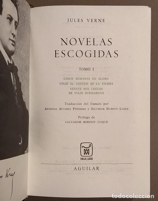Libros de segunda mano: Novelas escogidas. Tomo I. Jules Verne. Aguilar. Tolle, Lege. El Lince Inquieto. 1968. Rareza! - Foto 2 - 106646887