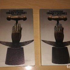 Libros de segunda mano: CRIMEN Y CASTIGO VOLUMEN 1 Y 2. F. M. DOSTOYEVSKI. Lote 107840439