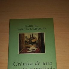Libros de segunda mano: CRÓNICA DE UNA MUERTE ANUNCIADA. GABRIEL GARCÍA MARQUEZ. MONDADORI. Lote 107840747