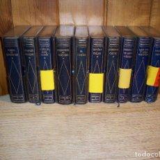Libros de segunda mano: COLECCION CLÁSICOS PLANETA . PIEL AZUL 1ª EDICIÓN . 10 TOMOS. Lote 107884611
