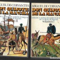 Libros de segunda mano: DON QUIJOTE DE LA MANCHA - VOLUMEN I - II . Lote 108055379