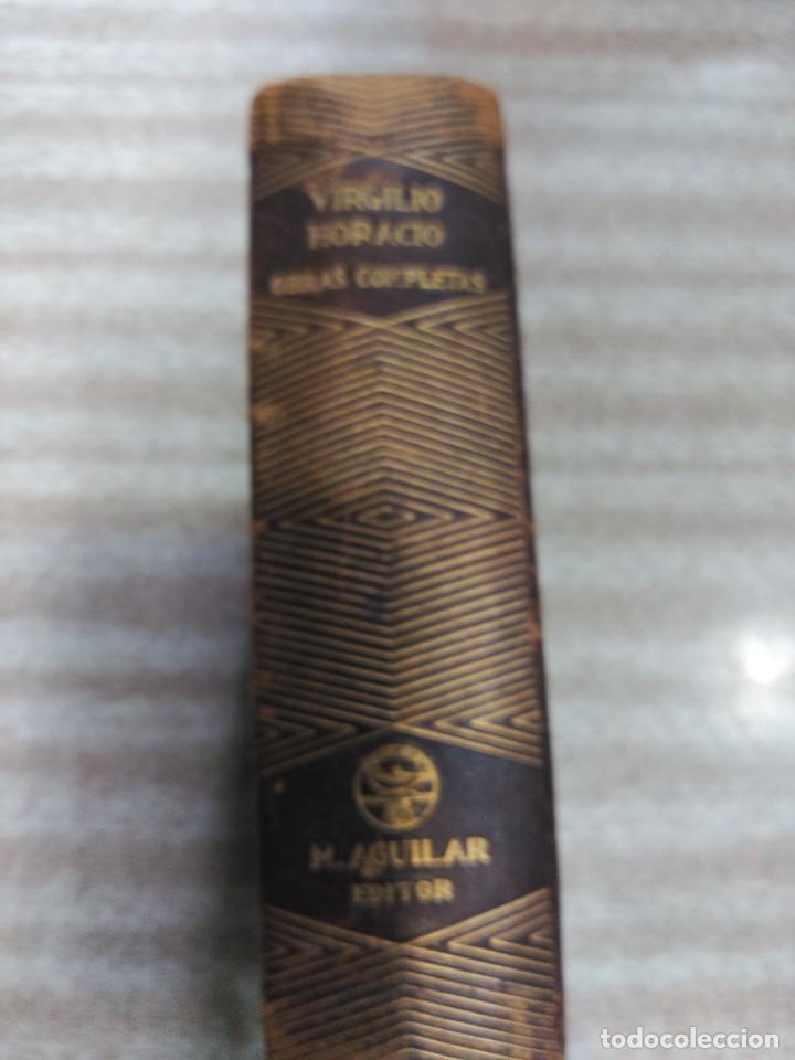 Libros de segunda mano: VIRGILIO Y HORACIO, OBRAS COMPLETAS--M. AGUILAR-1ª EDICION 1941 - Foto 2 - 190103823