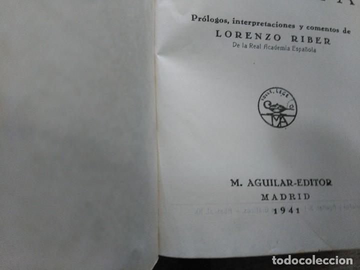 Libros de segunda mano: VIRGILIO Y HORACIO, OBRAS COMPLETAS--M. AGUILAR-1ª EDICION 1941 - Foto 4 - 190103823
