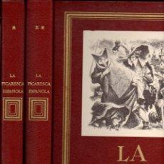 Libros de segunda mano: LA PICARESCA ESPAÑOLA (NAUTA, 1968) DOS TOMOS EDICIÓN DE LUJO GRAN FORMATO - LITOGRAFÍAS DE GOÑI. Lote 108293275