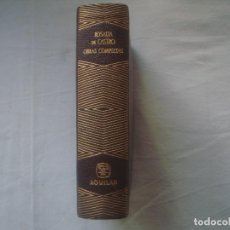 Libros de segunda mano: LIBRERIA GHOTICA. LUJOSA EDICION AGUILAR DE ROSALIA DE CASTRO. OBRAS COMPLETAS. 1958.PAPEL BIBLIA. Lote 110228687