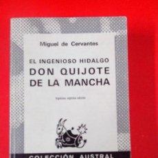 Libros de segunda mano: EL INGENIOSO HIDALGO DON QUIJOTE DE LA MANCHA. M. DE CERVANTES. AUSTRAL Nº 150 27ª ED. ESPASA CALPE. Lote 111444463