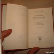 Libros de segunda mano: VICTOR HUGO. WILLIAM SHAKESPEARE. AGUILAR. CRISOL 275.. Lote 112326387