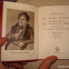 Libros de segunda mano: FRANCISCO RENATO VIZCONDE DE CHATEAUBRIAND. DOS BIOGRAFÍAS Y UNA NOVELA. AGUILAR. CRISOL 125.. Lote 112327023