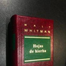 Libros de segunda mano: GRANDES OBRAS DE LA LITERATURA UNIVERSAL EN MINIATURA. WALT WHITMAN. HOJAS DE HIBERA. Lote 112404191