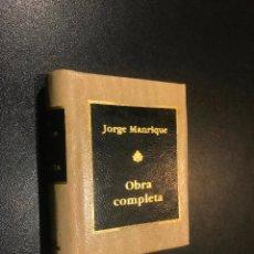 Libros de segunda mano: GRANDES OBRAS DE LA LITERATURA UNIVERSAL EN MINIATURA. JORGE MANRIQUE. OBRA COMPLETA. Lote 112404583
