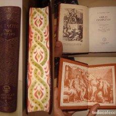 Libros de segunda mano: CAYO CORNELIO TÁCITO. OBRAS COMPLETAS. AGUILAR. PRIMERA EDICIÓN.. Lote 112525983